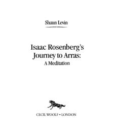 Isaac Rosenberg's Journey to Arras
